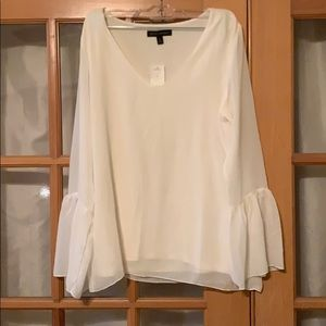 Banana Republic Cream bell sleeve blouse